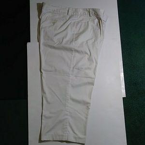 Lady Hagan Crop Cream Beige Crop Golf Pants 14